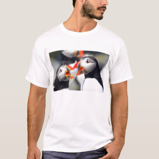 Atlantic Puffins with Beaks Open T-Shirt