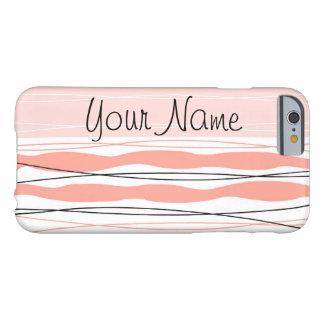 Atlantic Stripe Pink Name Vertical iPhone 6 case