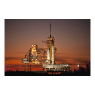 Atlantis Space Shuttle launch NASA Photo Print