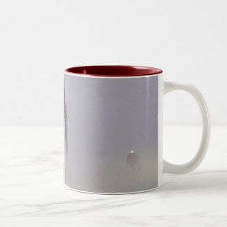 Atlantis' STS-115 foggy foll-out for launch Two-Tone Coffee Mug