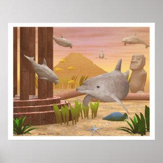 Atlantis Sunset Poster
