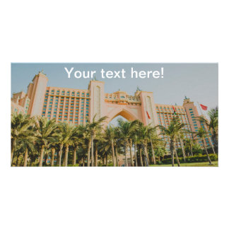 Atlantis The Palm, Abu Dhabi Customized Photo Card
