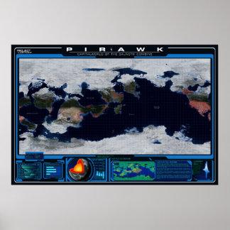Atlas de planète de Pirawk Poster