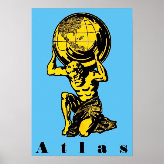 Atlas Greek Mythology Inspirational Poster Zazzle Ca