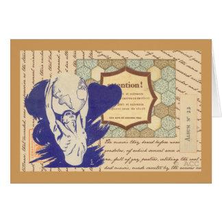 Atlas holding the world card