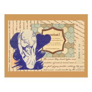 Atlas holding the world postcard
