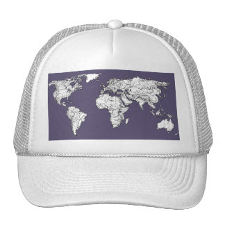 Atlas in dark lilac trucker hat