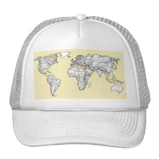 Atlas in ivory cream trucker hat