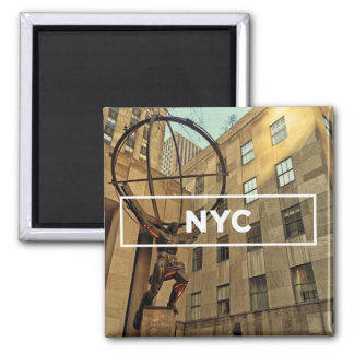Atlas in NYC Square Magnet