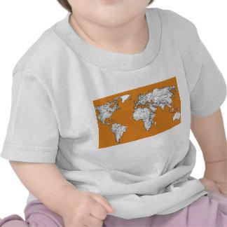 Atlas in orange t shirts
