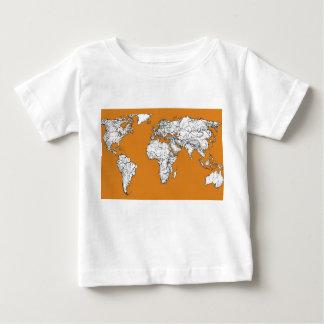 Atlas in orange t shirt