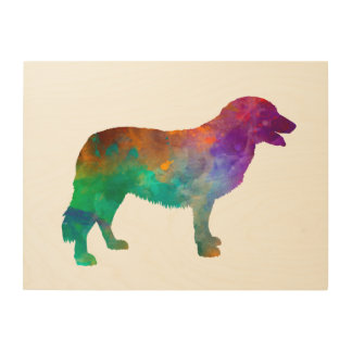 Atlas Mountain Dog in watercolor Wood Print