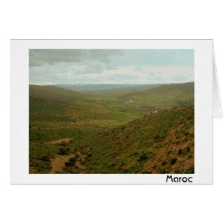 Atlas Mountains Valley Card