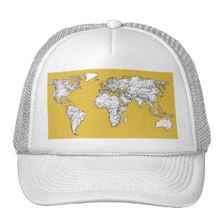 Atlas mustard drawing trucker hat