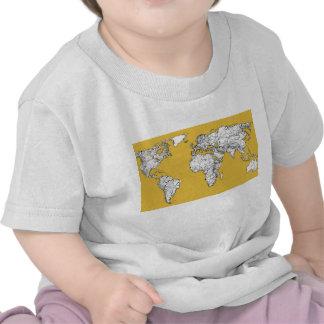 Atlas mustard drawing t-shirts