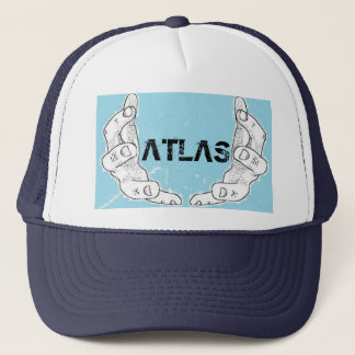 atlas navy hat.. trucker hat