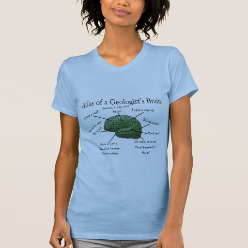 Atlas of a Geologist's Brain Funny Gifts Tee Shirts