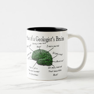 Atlas of a Geologist's Brain Funny Gifts Two-Tone Coffee Mug