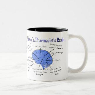 Atlas Of A Pharmacist's Brain-Hilarious Two-Tone Coffee Mug