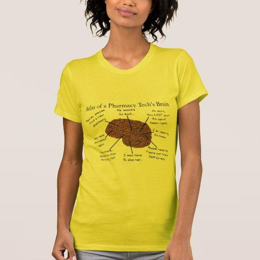 Atlas of a Pharmacy Tech's Brain T Shirts