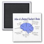 Atlas of a Retired Teacher's Brain Fridge Magnets