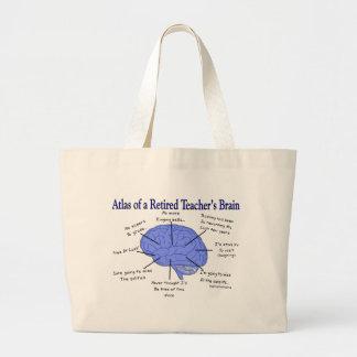 Atlas of a Retired Teacher's Brain Large Tote Bag
