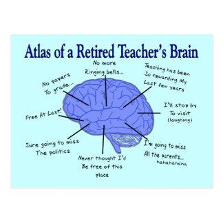 Atlas of a Retired Teacher's Brain Postcard
