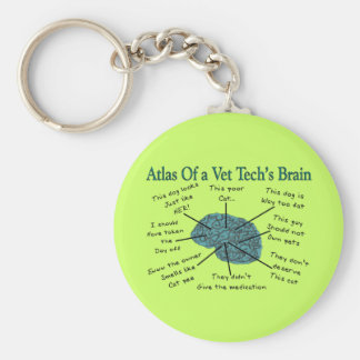 Atlas of a Vet Tech's Brain Keychain