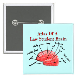 Atlas of Law Student Brain 2 Inch Square Button