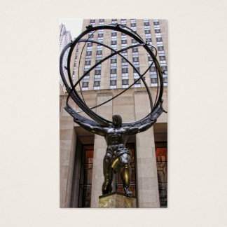 Atlas Statue, Rockefeller Center, NYC Business Card
