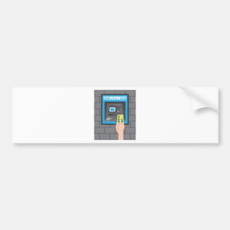 ATM human hand with a card Bumper Sticker