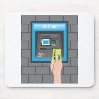 ATM human hand with a card Mouse Pad