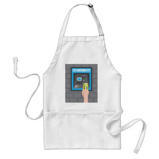 ATM human hand with a card Standard Apron