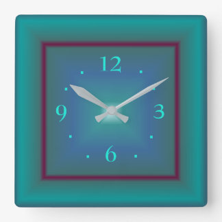 Atmospheric Emerald Green>  Square Wall Clock