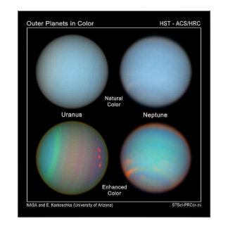 Atmospheric features on Uranus and Neptune are rev Poster