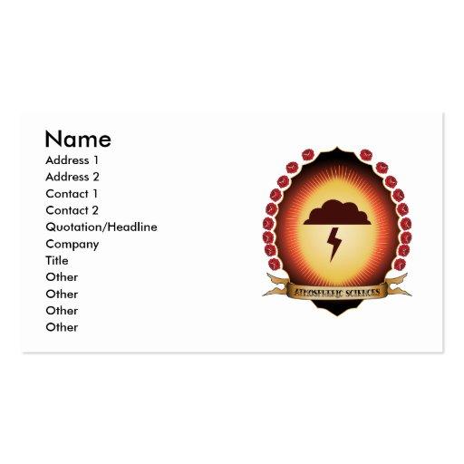 Atmospheric Sciences Mandorla Business Card Templates