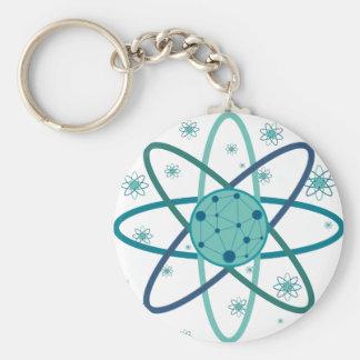 Atom Basic Round Button Keychain