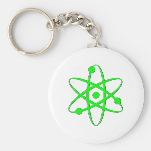 atom light green key chain