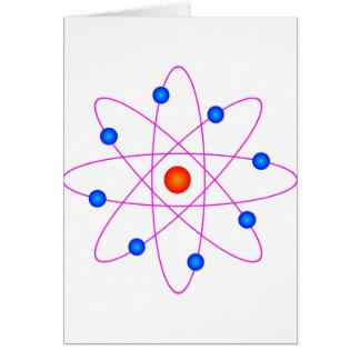 atom model vector clipart card