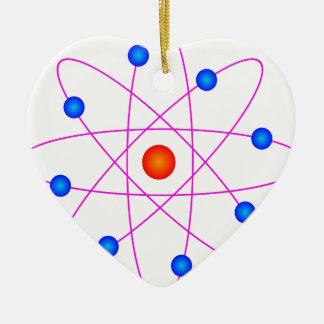 atom model vector clipart ceramic ornament
