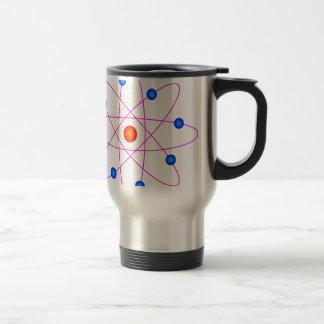 atom model vector clipart travel mug
