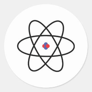 Atom Nucleus Classic Round Sticker