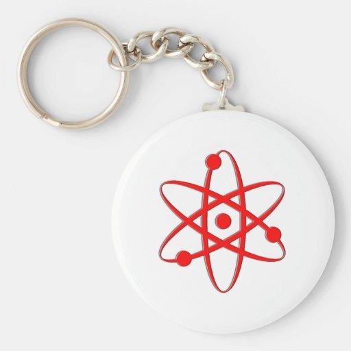 atom red keychain