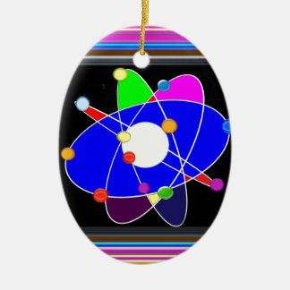 ATOM science explore study research NVN632 SCHOOL Ceramic Ornament