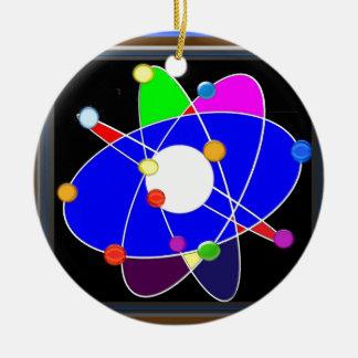 ATOM science explore study research SCHOOL Ceramic Ornament