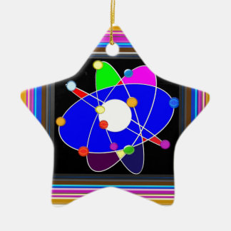 ATOM science explore study research SCHOOL Ceramic Star Ornament