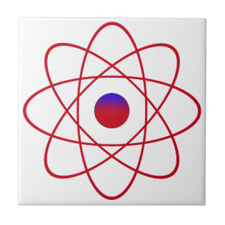 "Atom Small (4.25"" x 4.25"") Ceramic Photo Tile"