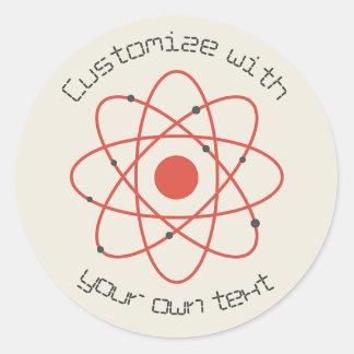 Atom Structure Round Sticker