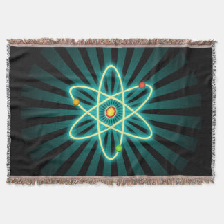 Atom Throw Blanket