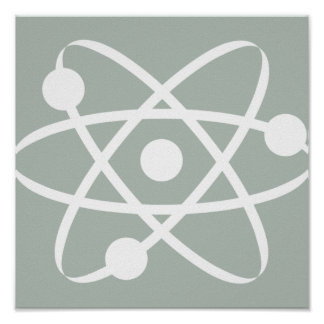 Atome de gris de cendre poster